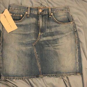 Tag & Bone Denim Mini Skirt size 28